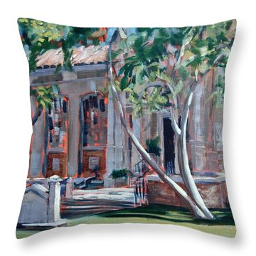 South Pasadena Library Throw Pillow