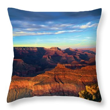 South Rim Grand Canyon Throw Pillow