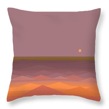 Throw Pillow featuring the digital art South Sea Abstract by Val Arie