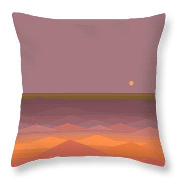South Sea Abstract Throw Pillow