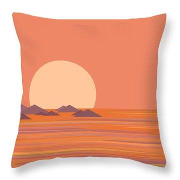 South Sea Morning Moon Throw Pillow