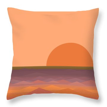 Throw Pillow featuring the digital art South Sea Sunrise by Val Arie