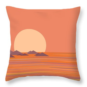 Throw Pillow featuring the digital art South Sea by Val Arie