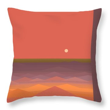 Throw Pillow featuring the digital art South Seas Abstract by Val Arie