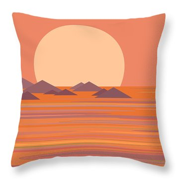Throw Pillow featuring the digital art South Seas by Val Arie