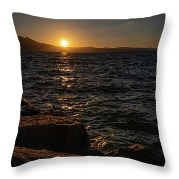 South Shore Sunset Throw Pillow