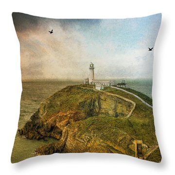 South Stack Lighthouse Throw Pillow