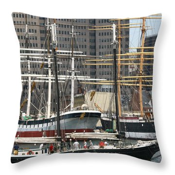 South Street Seaport Pioneer Throw Pillow