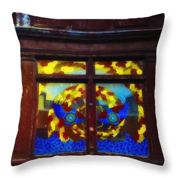 South Street Window Throw Pillow by Bill Cannon