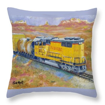 South West Union Pacific Throw Pillow
