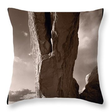 South Window Arch Arches National Park Throw Pillow by Steve Gadomski