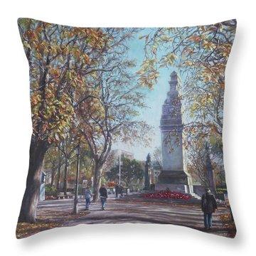 Southampton Cenotaph Autumn Throw Pillow