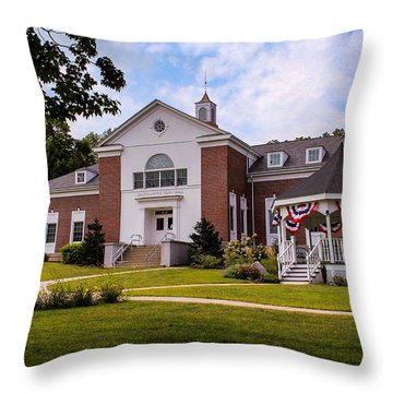 Southampton, Ma Town Hall Throw Pillow