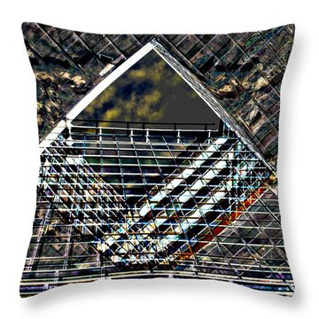 Southbank London Abstract Throw Pillow