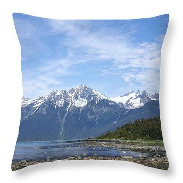 Southeast Alaskan Summer Throw Pillow