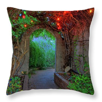 Southeast Arizona Garden Throw Pillow