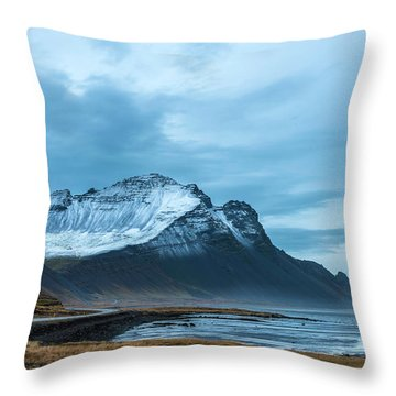 Southeast Iceland Countryside Throw Pillow