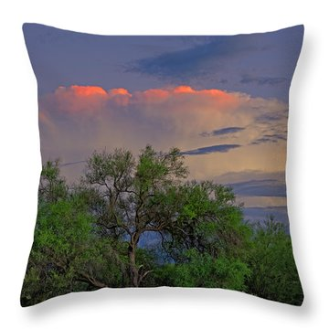 Throw Pillow featuring the photograph Southeast Of Sunset H38 by Mark Myhaver