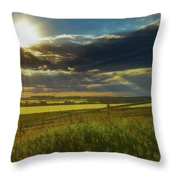 Southern Alberta Crop Land Throw Pillow