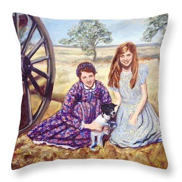 Southern Belles Throw Pillow