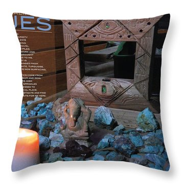 Southern California Blues Throw Pillow