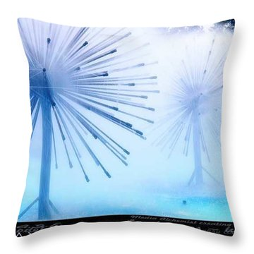 Southern California Fountains Throw Pillow