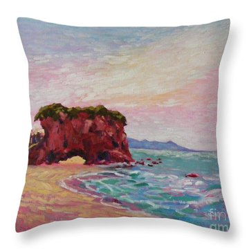 Southern Coast Throw Pillow