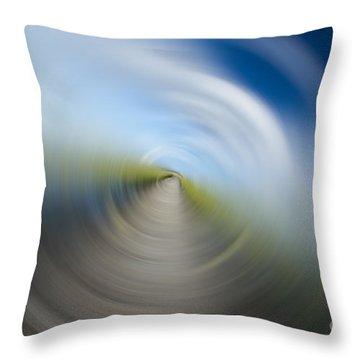 Southern Dock Motion Blur Throw Pillow by Dustin K Ryan