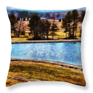 Southern Farmlands Throw Pillow