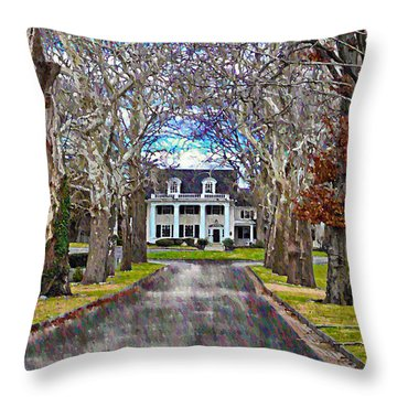 Southern Gothic Throw Pillow by Bill Cannon