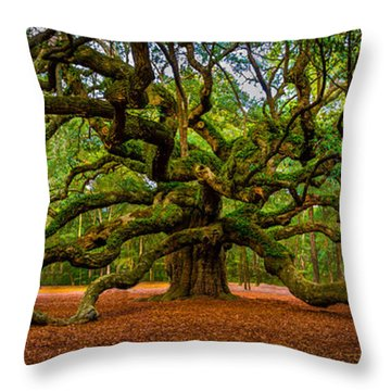 Angel Oak In Charleston Throw Pillow