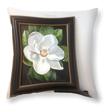 Southern Magnoila Throw Pillow