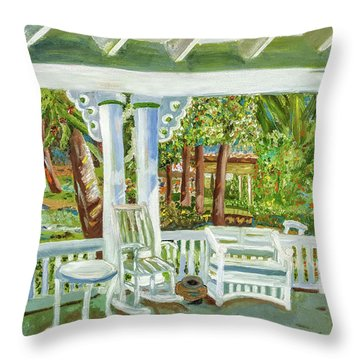 Southern Porches Throw Pillow