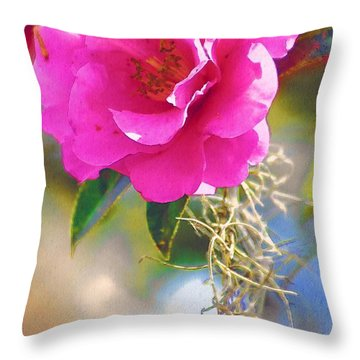 Throw Pillow featuring the digital art Southern Rose by Donna Bentley