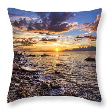 Southold Sunset Throw Pillow