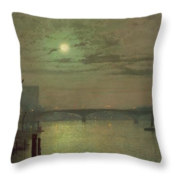 Southwark Bridge Throw Pillow by John Atkinson Grimshaw