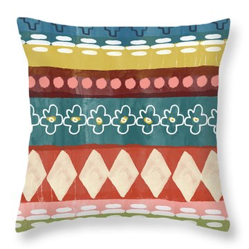 Southwest 3- Art By Linda Woods Throw Pillow