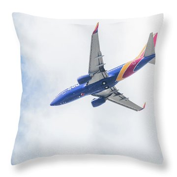 Southwest Airlines With A Heart Throw Pillow