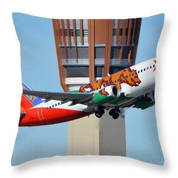 Southwest Boeing 737-3h4 N609sw California One Phoenix Sky Harbor January 21 2016 Throw Pillow by Brian Lockett