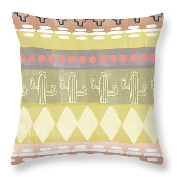 Southwest Cactus Decorative- Art By Linda Woods Throw Pillow