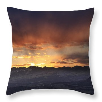 Southwest Colorado Sunset Throw Pillow
