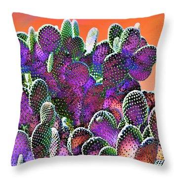 Southwest Desert Cactus Throw Pillow