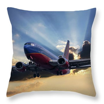 Southwest Dramatic Rays Of Light Throw Pillow