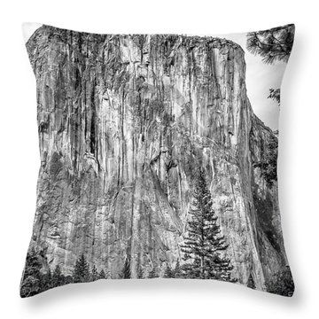 Southwest Face Of El Capitan From Yosemite Valley Throw Pillow