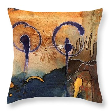 Southwest Holiday - Completed Throw Pillow by Angela L Walker
