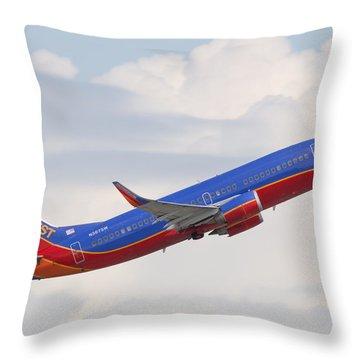 Southwest Jet Throw Pillow