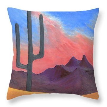 Throw Pillow featuring the painting Southwest Scene by J R Seymour