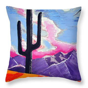 Throw Pillow featuring the painting Southwest Skies 2 by J R Seymour
