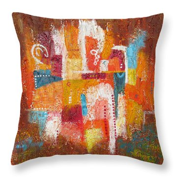 Southwest Sunburst Throw Pillow