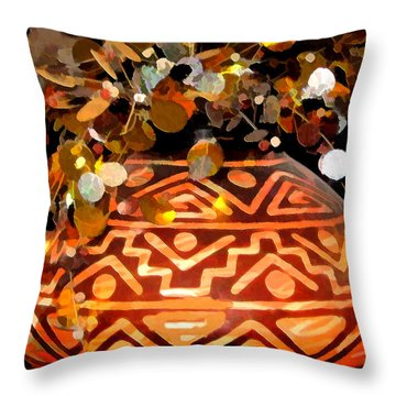 Southwest Vase Art Throw Pillow